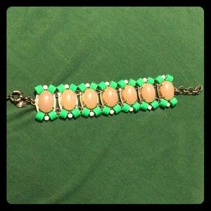 Bold J. Crew Neon Jeweled Statement Bracelet